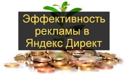 Эффективность рекламы Яндекс Директ