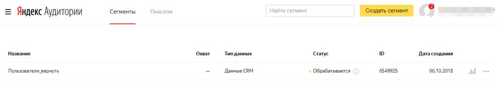 Обработка данных Яндекс Аудитории