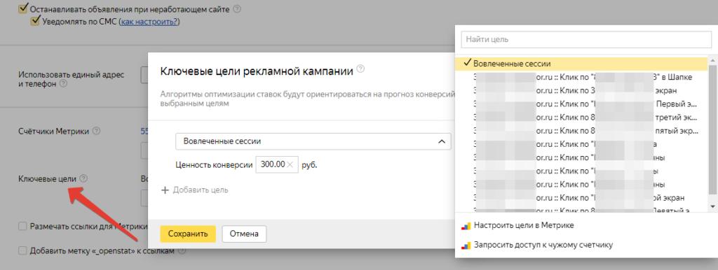 Ключевые цели Яндекс Директ